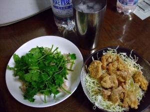 晩ご飯 鶏と野菜と芋ソー