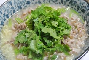 香菜肉絲麺