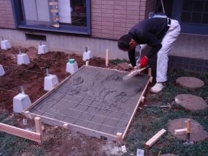 バーベキューグリル設置土間工事中継 :神奈川県横浜市鶴見区