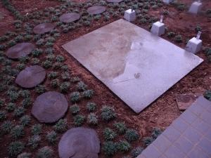 敷石移設+タマリュウの移植 :神奈川県横浜市鶴見区