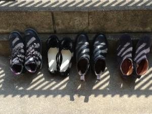 靴 天日干し