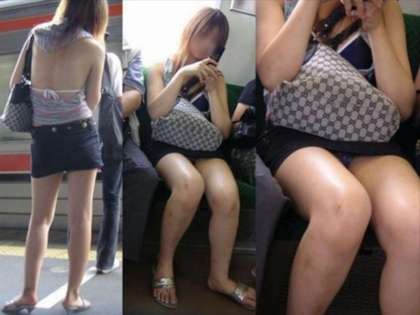 電車内のパンチラ画像-23