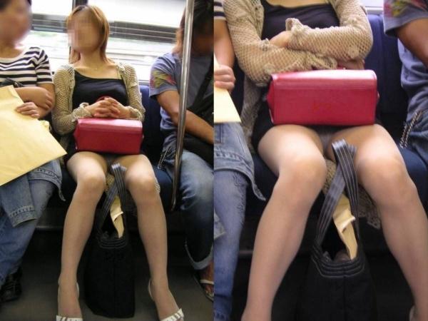 電車内のパンチラ画像-36