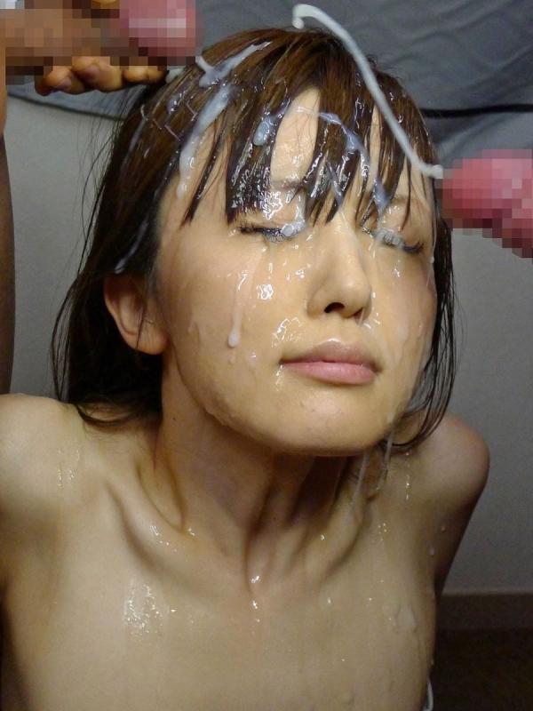 顔射のぶっ掛け画像-1