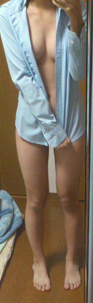 裸シャツの彼女画像-30