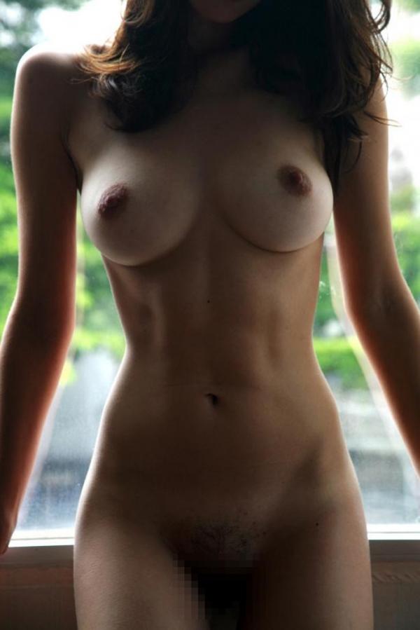 腹筋女子のヌード画像-5