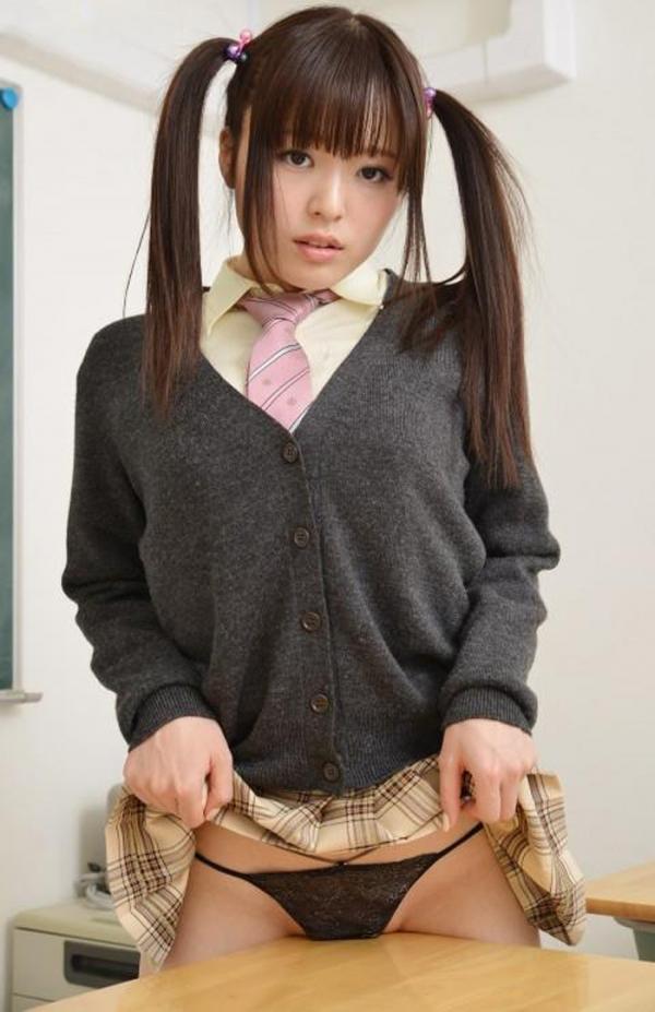女学生の角オナニー画像-58