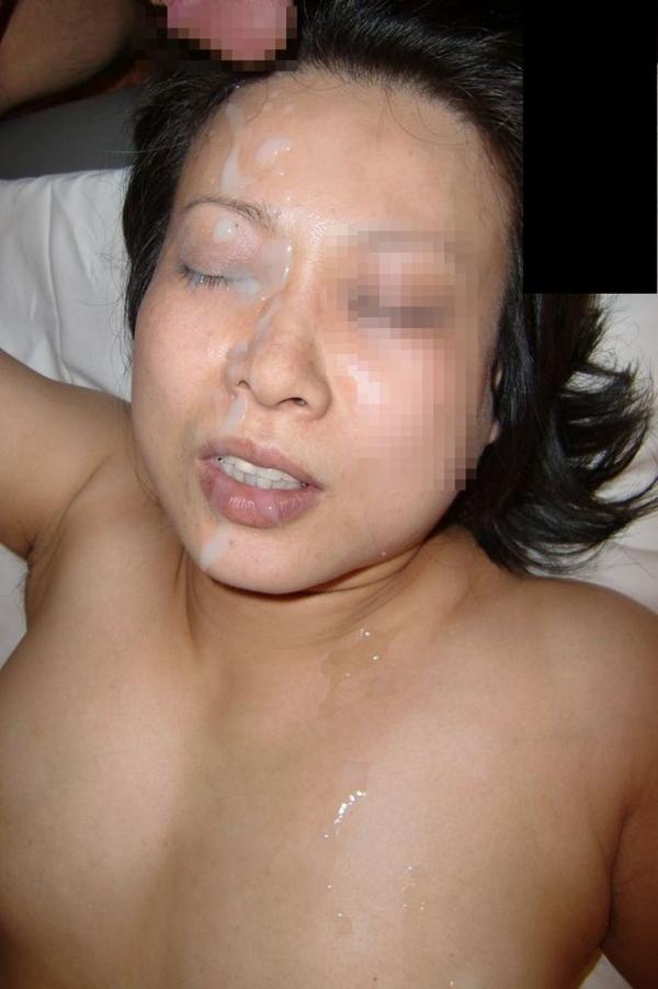 熟女の顔射画像-2