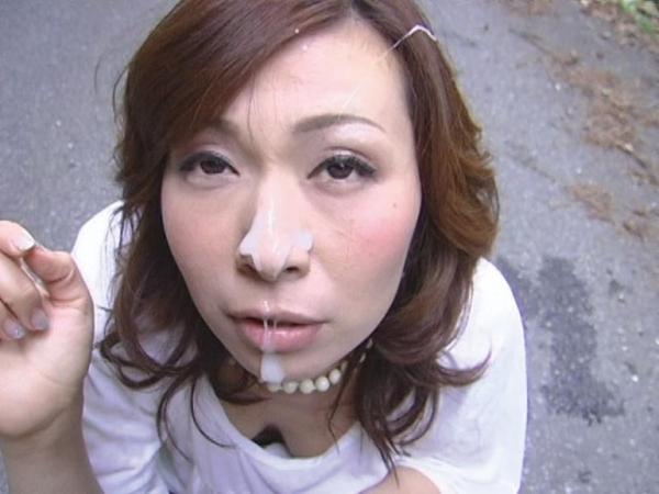 熟女の顔射画像-15