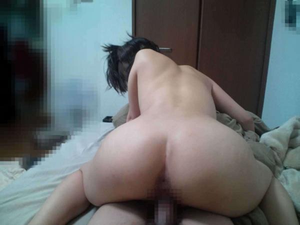 人妻の騎乗位セックス画像-59
