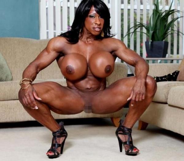 黒人の女性ボディビルダーエロ画像-1
