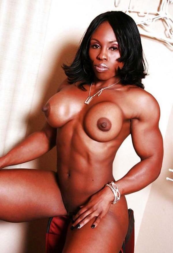 黒人の女性ボディビルダーエロ画像-3