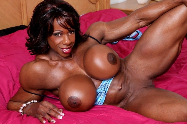 黒人の女性ボディビルダーエロ画像-4