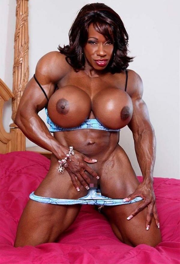 黒人の女性ボディビルダーエロ画像-5