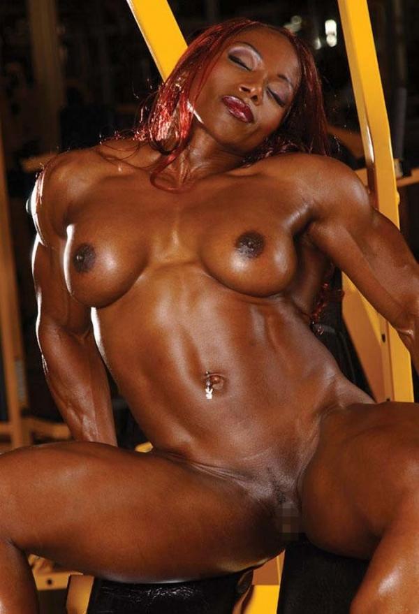 黒人の女性ボディビルダーエロ画像-7