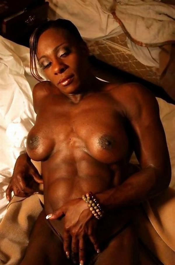 黒人の女性ボディビルダーエロ画像-8