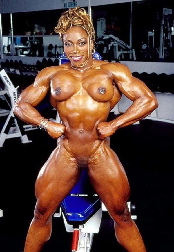 黒人の女性ボディビルダーエロ画像-10