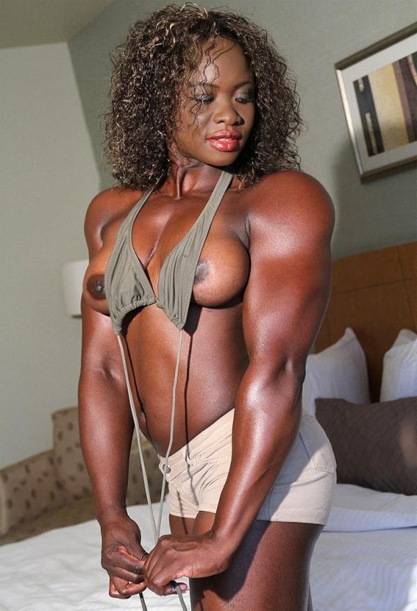 黒人の女性ボディビルダーエロ画像-12