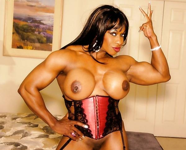 黒人の女性ボディビルダーエロ画像-13