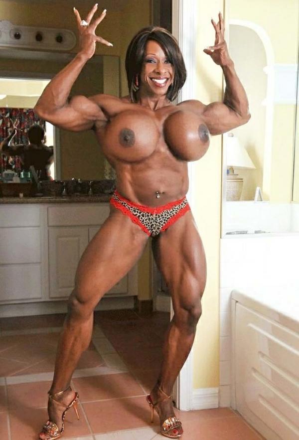 黒人の女性ボディビルダーエロ画像-15