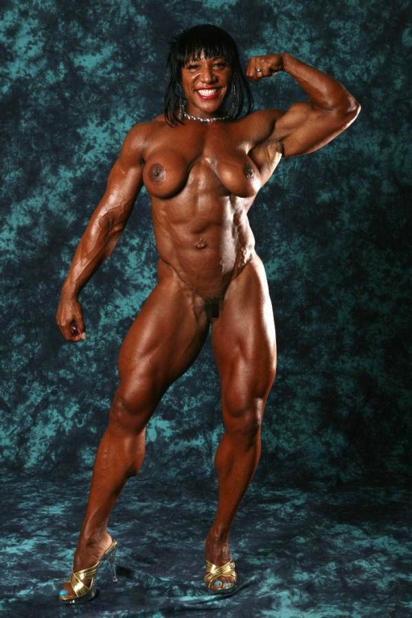 黒人の女性ボディビルダーエロ画像-17