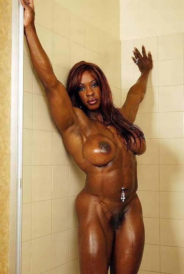 黒人の女性ボディビルダーエロ画像-18