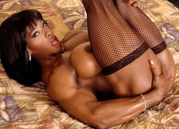 黒人の女性ボディビルダーエロ画像-23