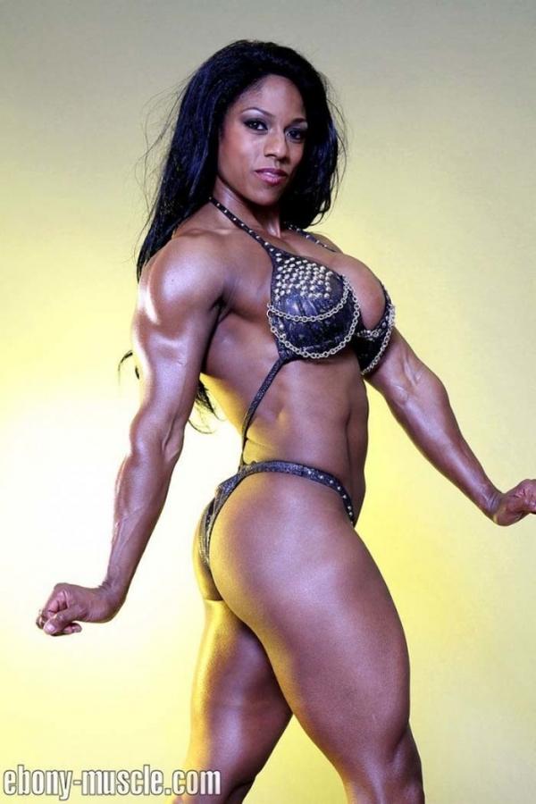 黒人の女性ボディビルダーエロ画像-24