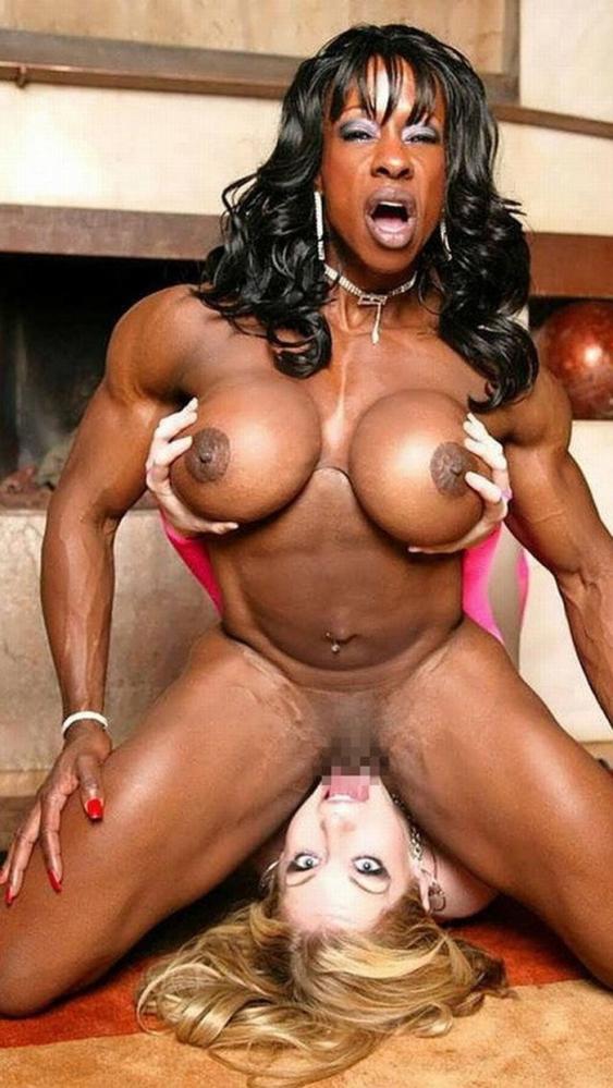 黒人の女性ボディビルダーエロ画像-26