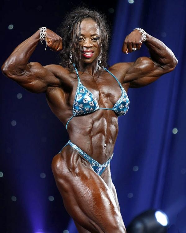 黒人の女性ボディビルダーエロ画像-28