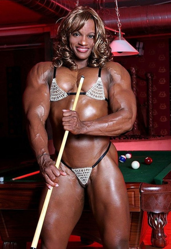 黒人の女性ボディビルダーエロ画像-33