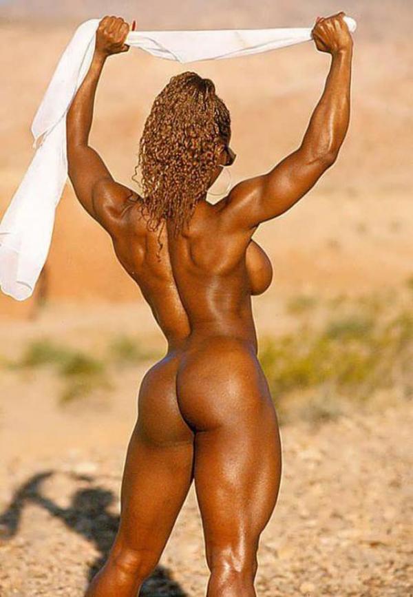 黒人の女性ボディビルダーエロ画像-35
