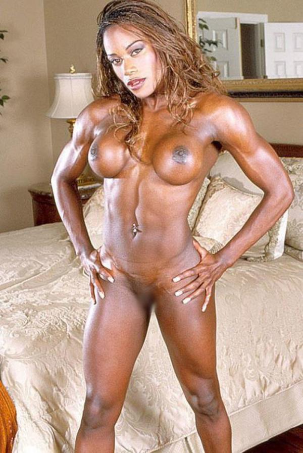 黒人の女性ボディビルダーエロ画像-36