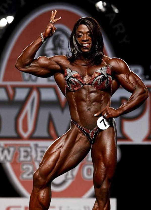 黒人の女性ボディビルダーエロ画像-40