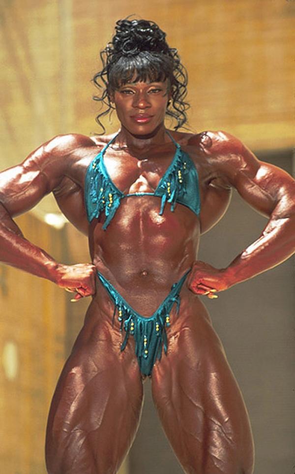 黒人の女性ボディビルダーエロ画像-44