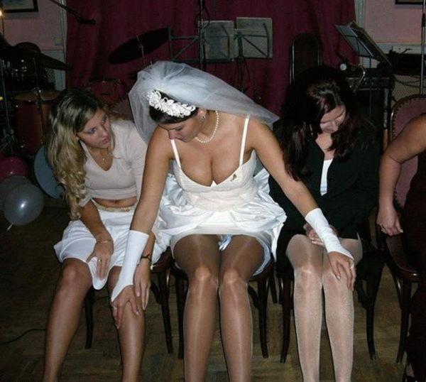 ウェディングドレスのパンチラ画像-28