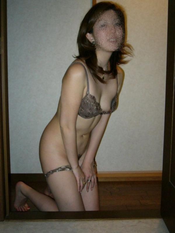 素人のセクシーランジェリー画像-87