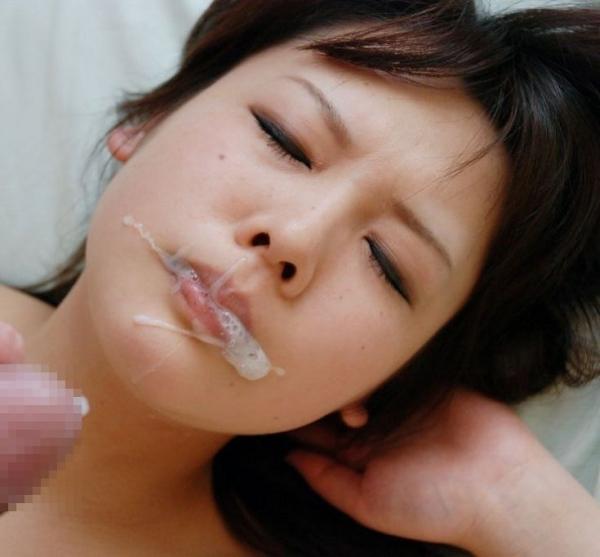舌上射精のエロ画像-60
