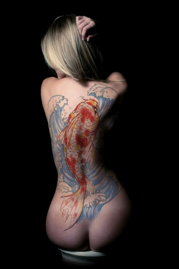タトゥー入れた女のヌード画像-33