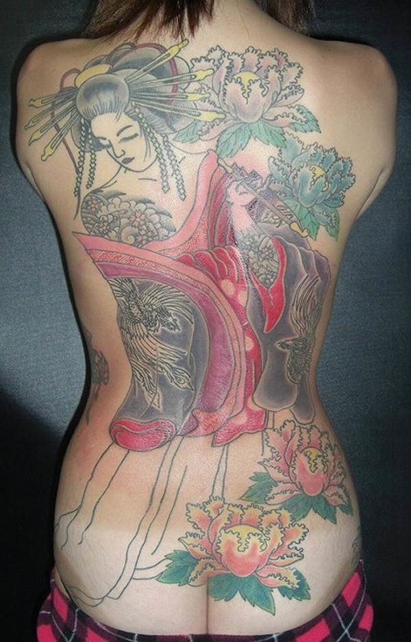 タトゥー入れた女のヌード画像-65