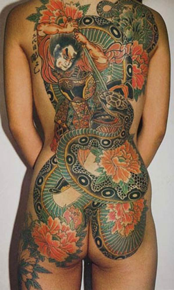 タトゥー入れた女のヌード画像-66