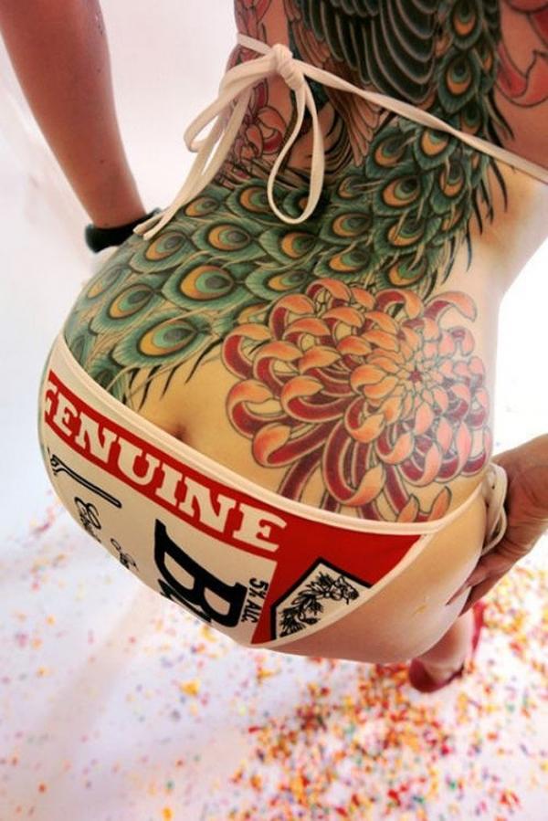 タトゥー入れた女のヌード画像-77