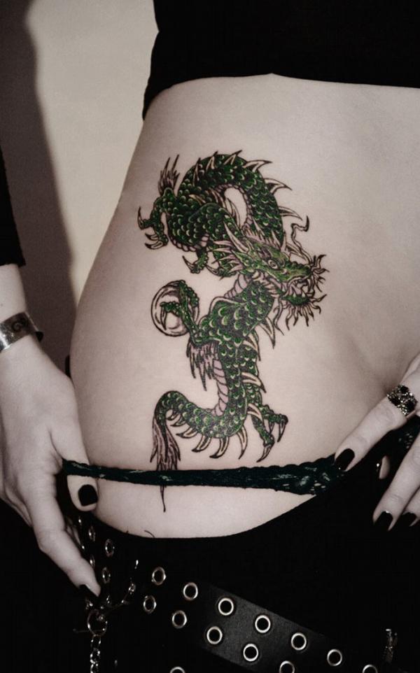 タトゥー入れた女のヌード画像-79