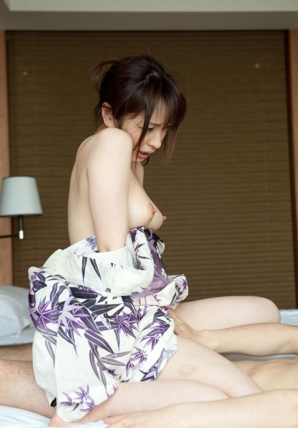 和服の着衣セックス画像-45