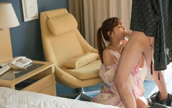 彼女の浴衣フェラ画像-5