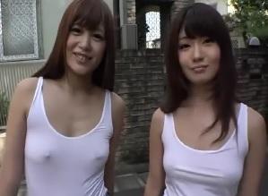 隣に住む可愛い女子大生がノーブラで乳首ピン立ちで…押したらヤレたw