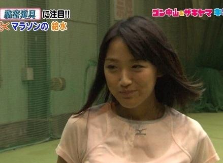 【放送事故】ベッキーが天敵。テレビ朝日「竹内由恵アナ」の透け透けメロン乳がこちらwwww