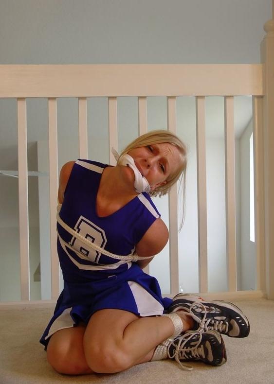 Bound gagged cheerleader best naughty