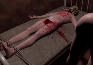 [残虐表現] 役立たずのち○ぽは容赦なく切断!アソコが血まみれで痛々しい処刑場!