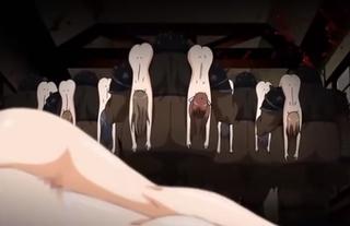 オーク兵団の野太い巨根で白濁レ○プされる制服少女たち!